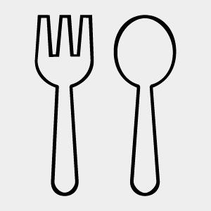 Forchetta e cucchiaio per mangiare quello che ti piace