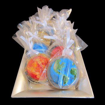 Biscotti a tema pianeti del Sistema Solare in confezione regalo