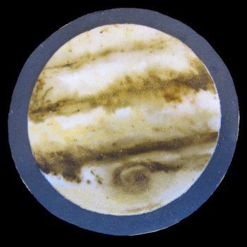 Biscotto del pianeta Giove decorato in pasta di zucchero
