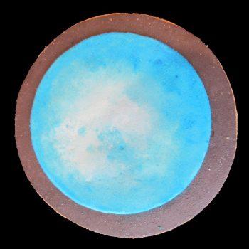 Biscotto del pianeta Urano decorato in pasta di zucchero