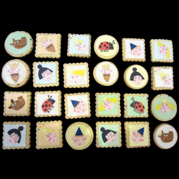 Biscotti decorati per un compleanno a tema Ben e Holly