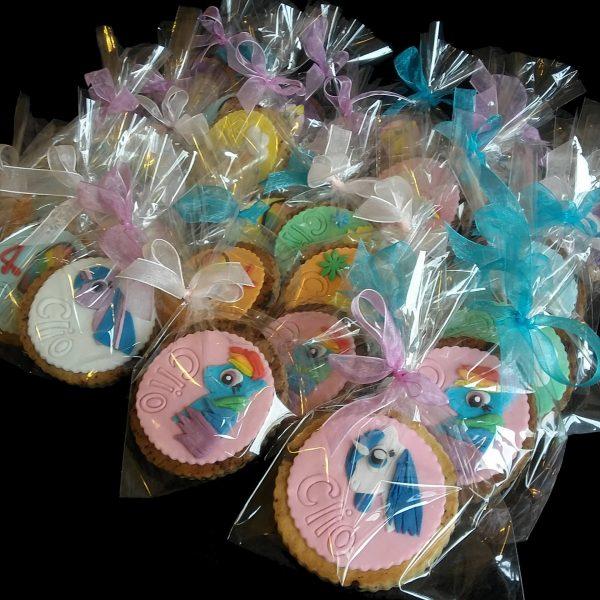Biscotti in confezione regalo per un compleanno a tema Mini Pony