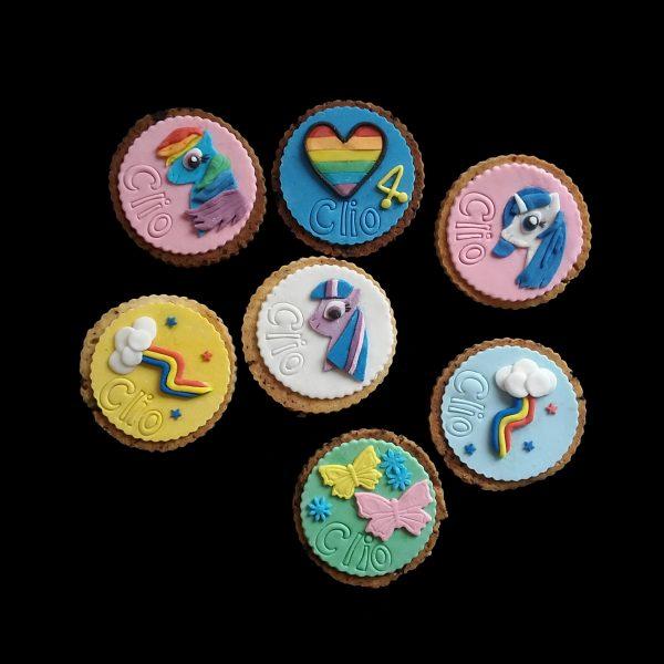 Biscotti decorati per un compleanno a tema Mini Pony