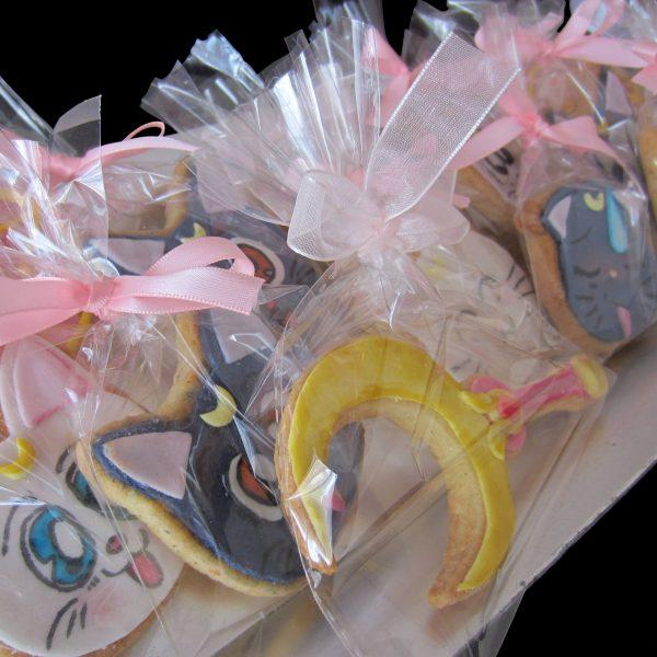 Biscotti in confezione regalo per un compleanno a tema Sailor Moon