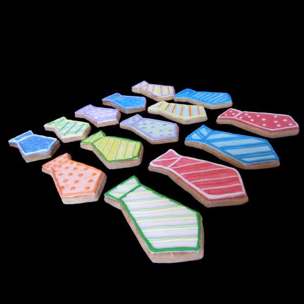 Biscotti decorati a forma di cravatta