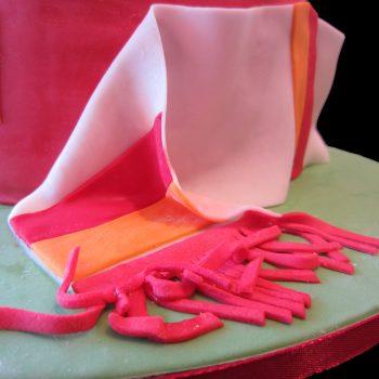 Sciarpa della Roma in pasta di zucchero