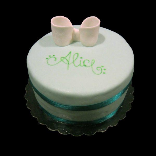 Torta monoporzione decorata in pasta di zucchero per i 16 anni di Alice