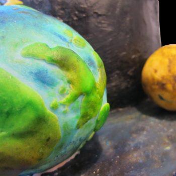 Terra e Venere in pasta di zucchero
