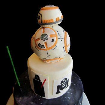 L'androide BB-8 in pasta di zucchero