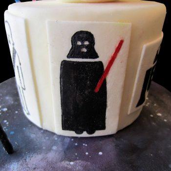 Darth-Vader il Sith disegnato con coloranti commestibili