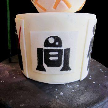 L'androide R2-D2 disegnato con coloranti commestibili