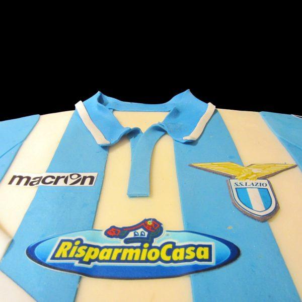 Maglietta della Lazio in pasta di zucchero
