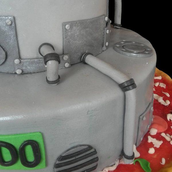 Condotti delle fogne in pasta di zucchero