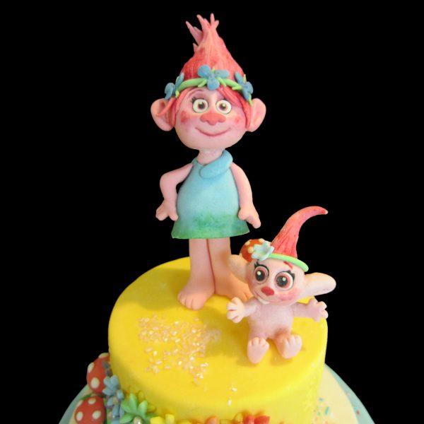 La troll Poppy in pasta di zucchero
