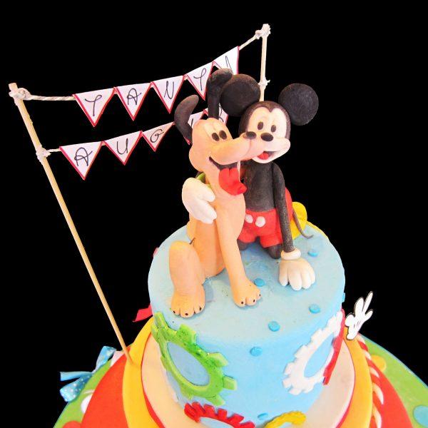 Pluto e Topolino in pasta di zucchero