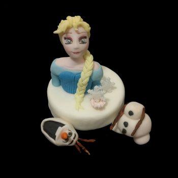 Elsa e Olaf in pasta di zucchero
