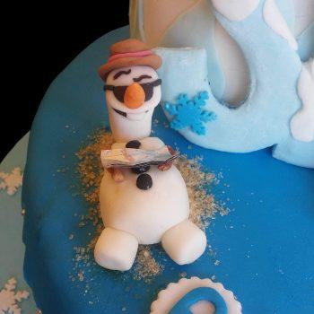 Olaf in pasta di zucchero prende il sole
