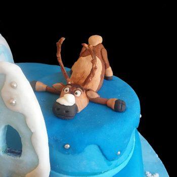 Sven la renna in pasta di zucchero