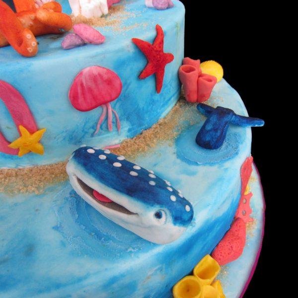 Destiny lo squalo balena in pasta di zucchero