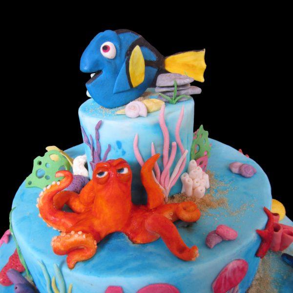 Dory il pesce chirurgo blu in pasta di zucchero