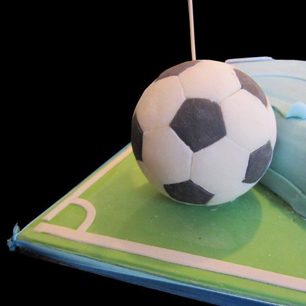Palla di calcio in pasta di zucchero