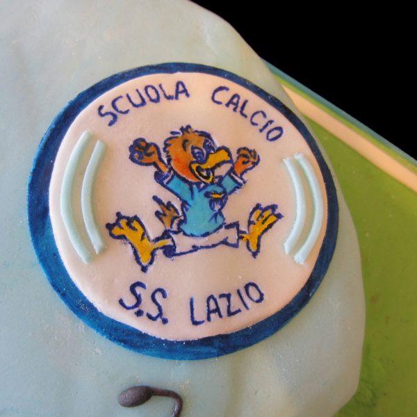 Stemma della Scuola Calcio della Lazio in pasta di zucchero