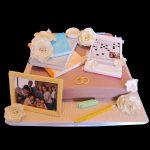 Torta decorata in pasta di zucchero per un anniversario