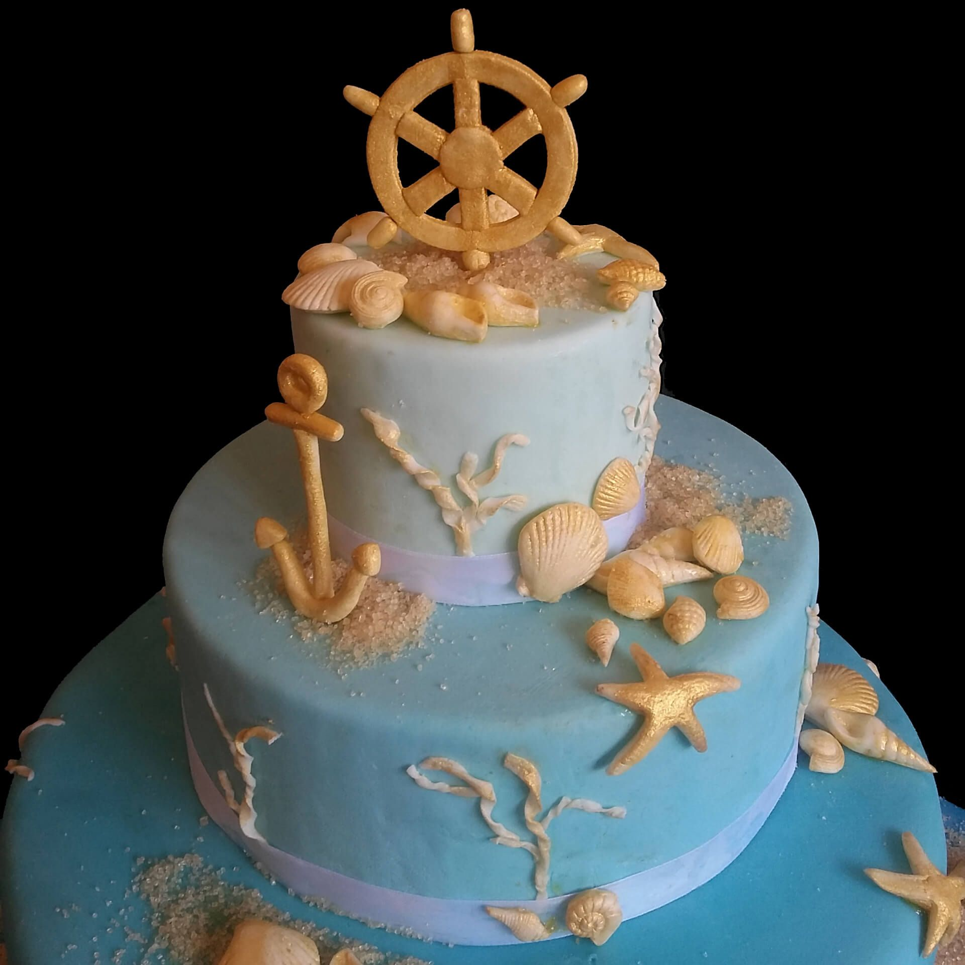 Un mare di auguri per i 40 anni di susy via dei golosi for Decorazioni torte tema mare