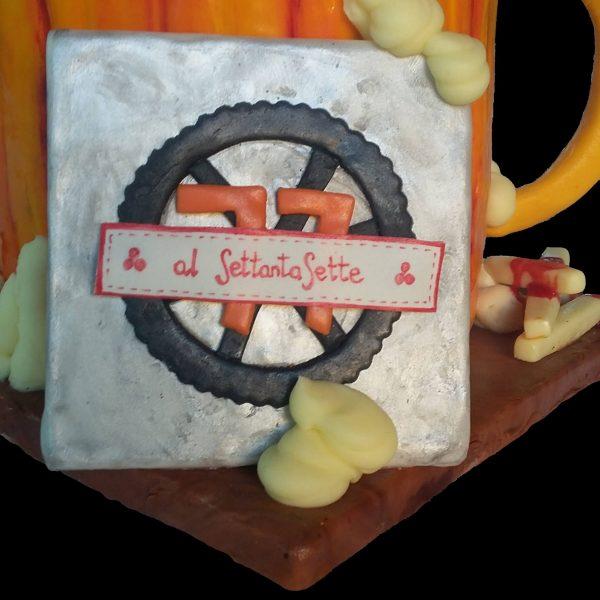 Logo di Al SettantaSette in pasta di zucchero