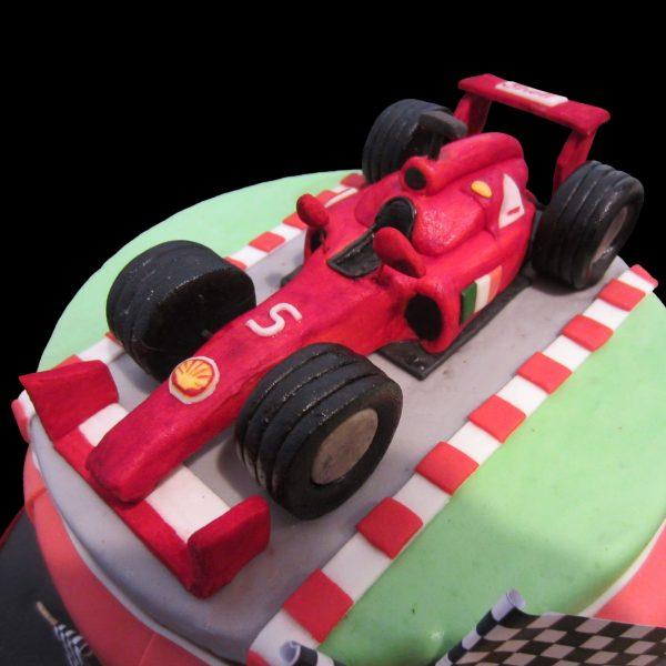 Ferrari della Formula 1 in pasta di zucchero